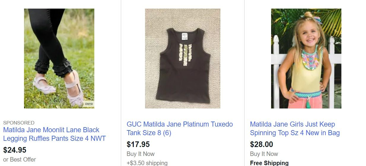 Matilda Jane MLM Review - Matilda Jane Clothes on EBay