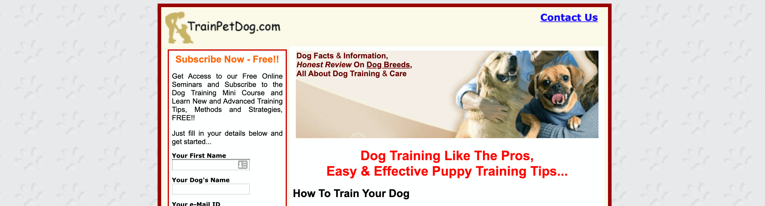 TrainPetDog Affiliate Program