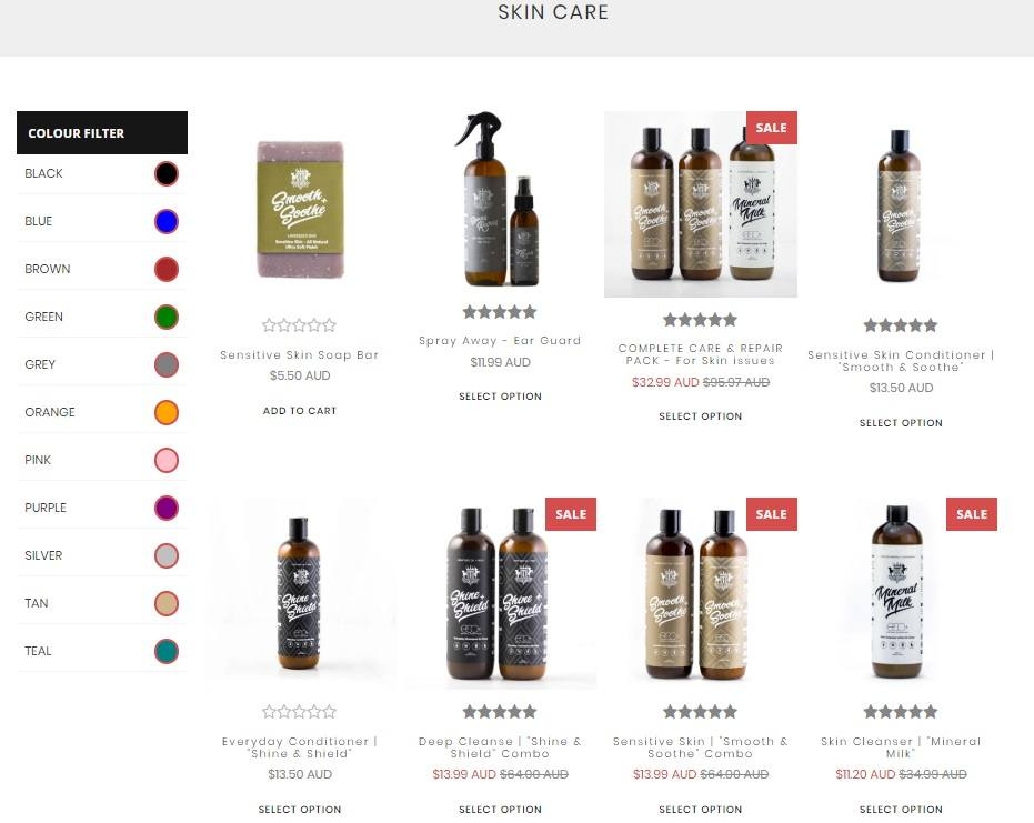Dog Skin Care Products
