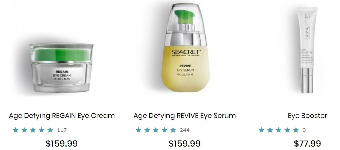 Seacret Eye Creams
