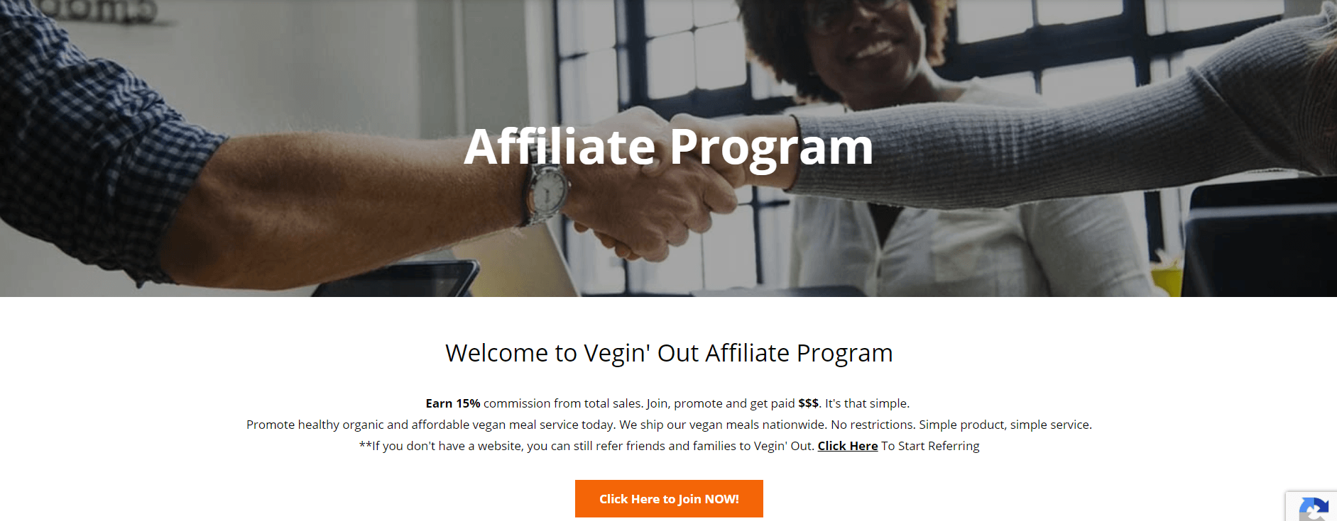 Vegin Out - Join Affiliate Program