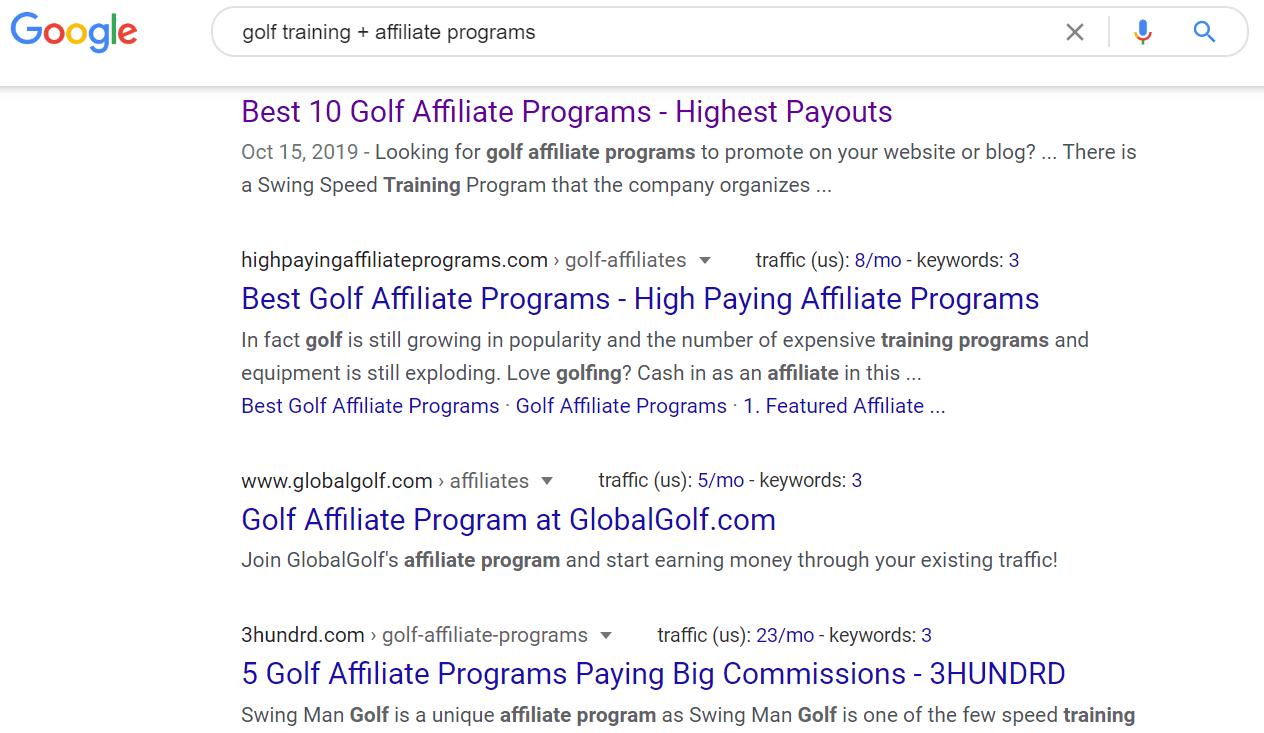 Golf Training Affiliate Programs Google Search