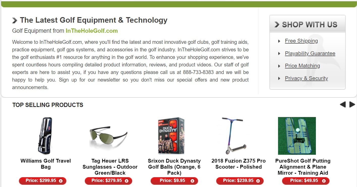 In the Hole Golf Equipment