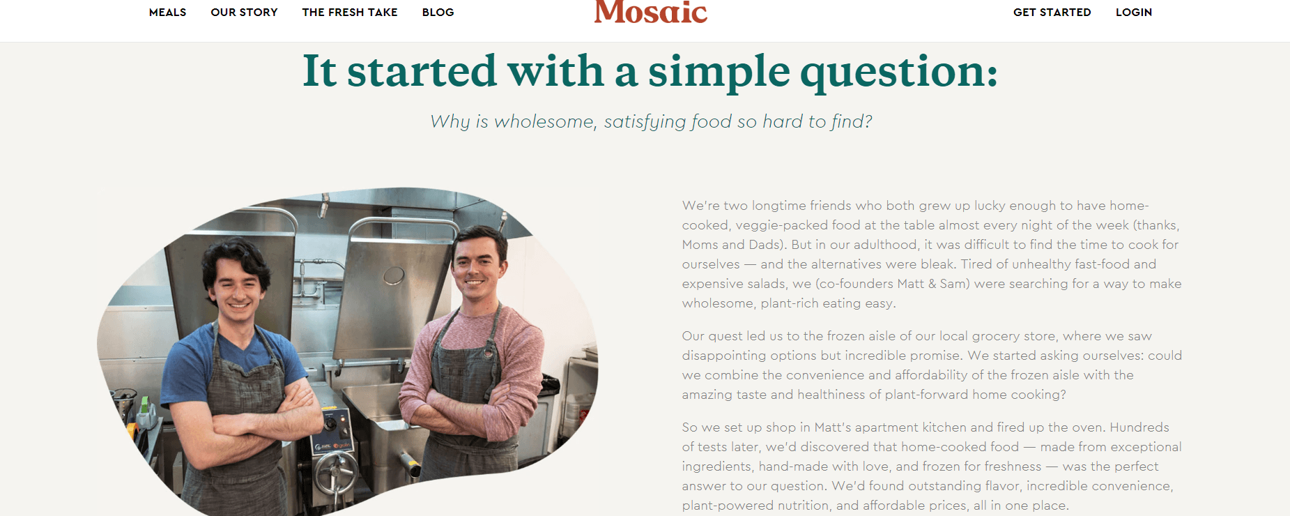 Mosaic Foods Story
