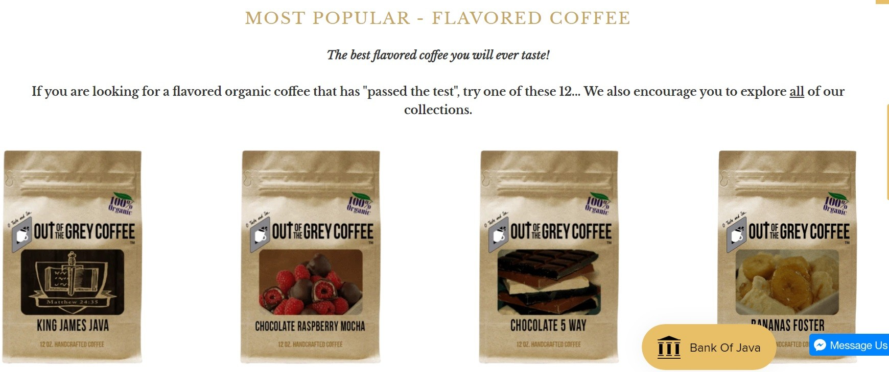 Most Popular Flavored Coffee