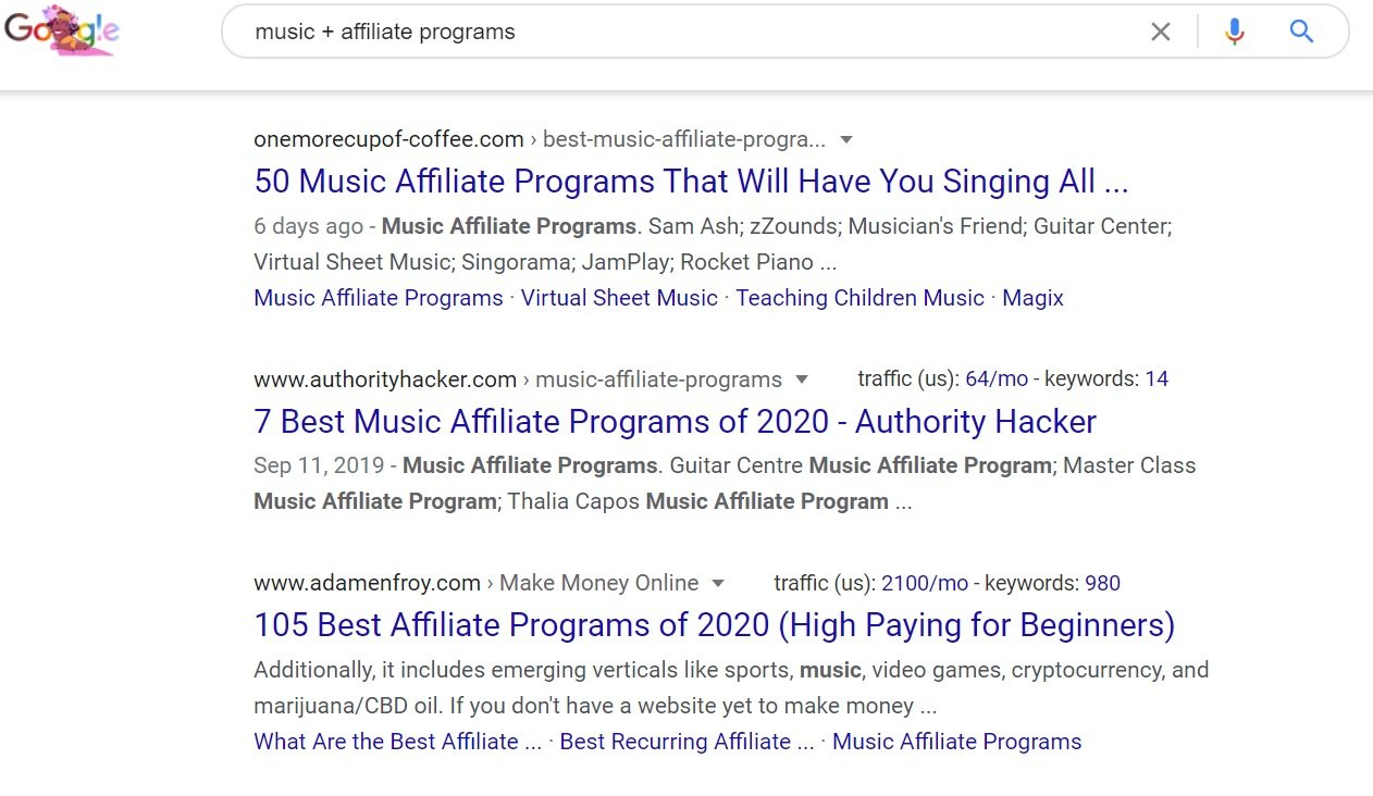 Music Affiliate Programs - Google Search