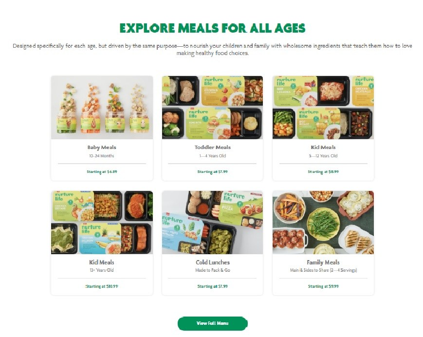 Nuture Life Meals for All Ages