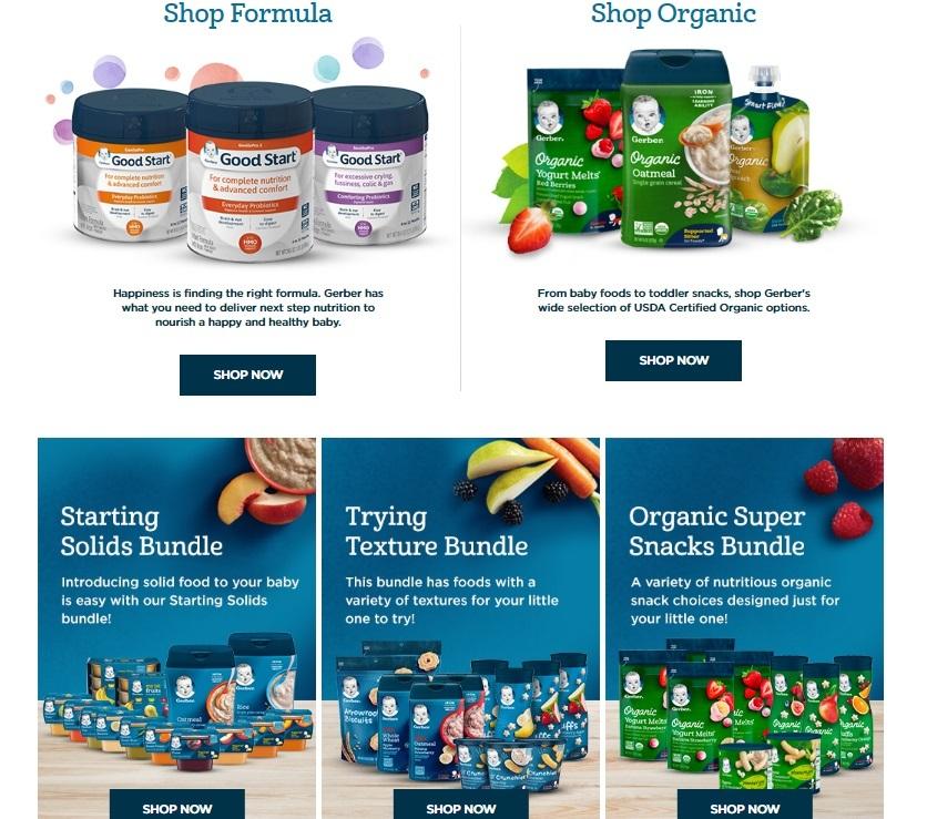 The Gerber Store Shop Formula Shop Organic