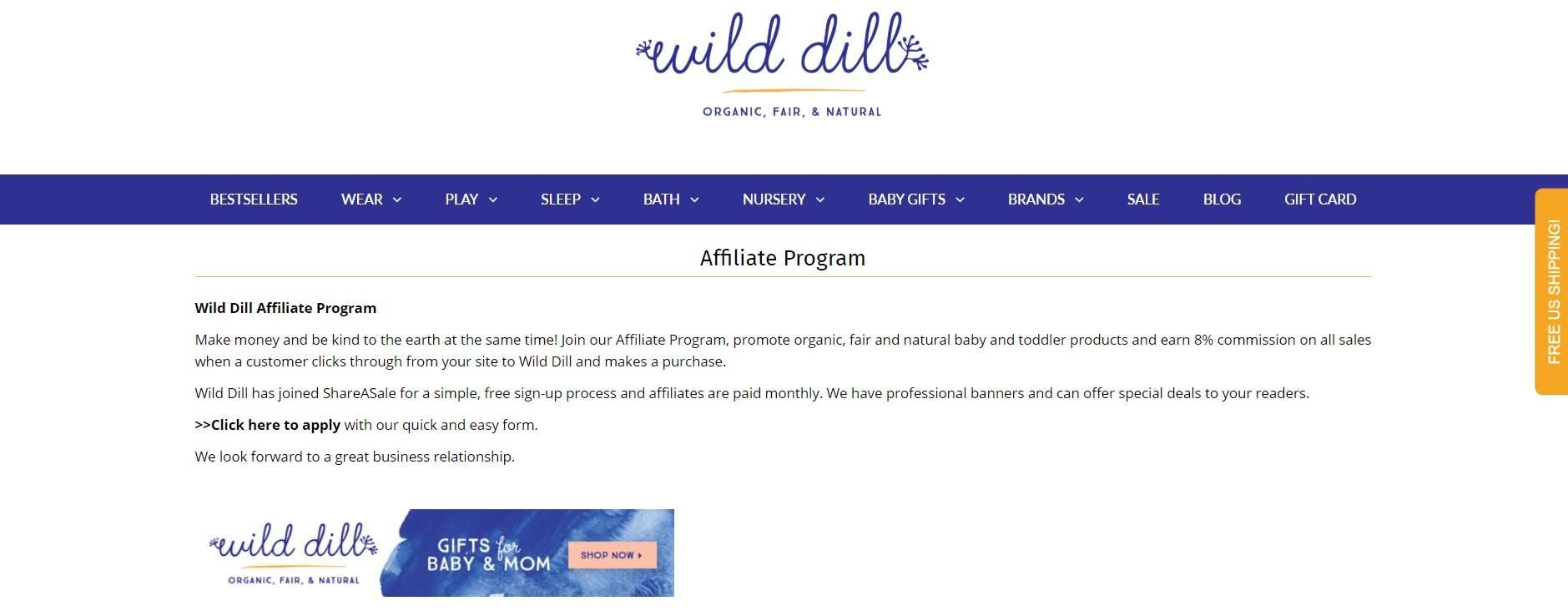 WildDill Affiliate Program