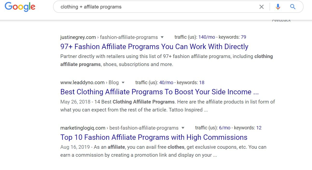 Clothing Affiliate Programs - Google Search