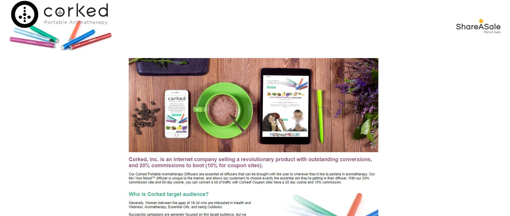 Corked Essential Oils Affiliate Program