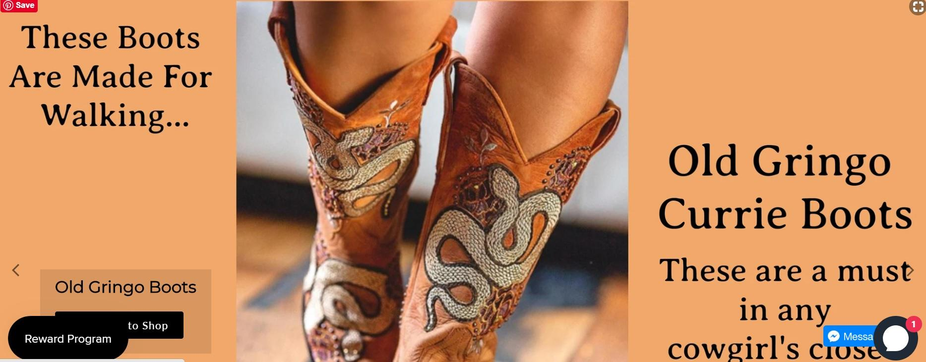 Cowgirl Kim Old Gringo Currie Boots