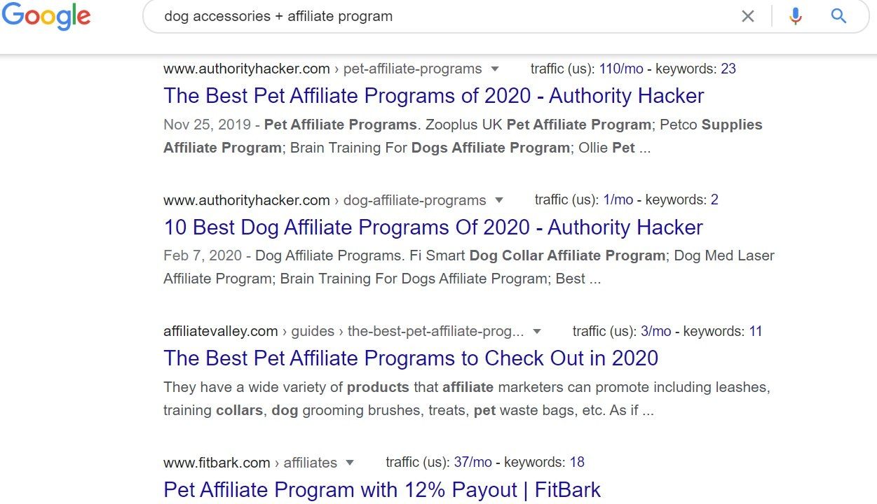 Dog Accessories + Affiliate Program Google Search