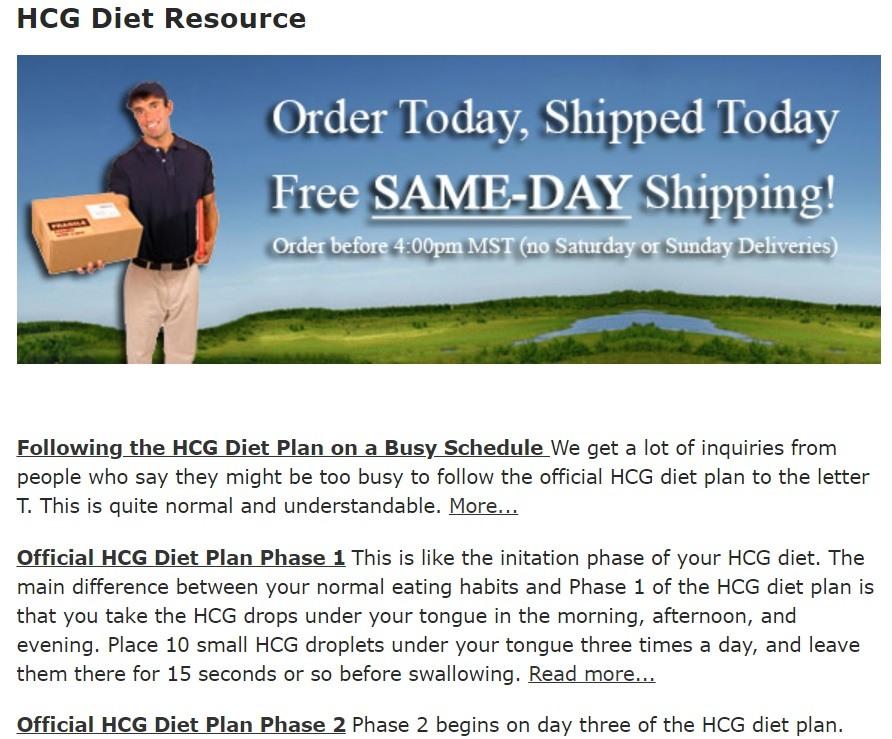 HCG Diet Resource