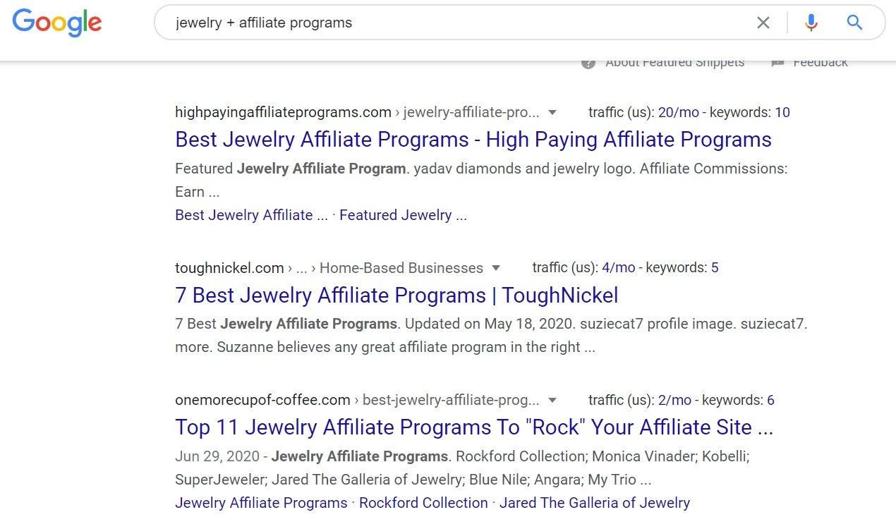 Jewelry Affiliate Programs - Google Search