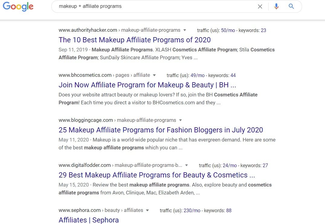 Makeup Affiliate Programs - Google Search