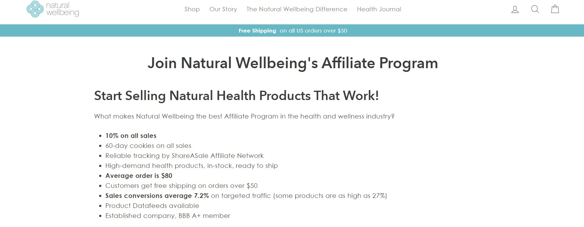 Natural Well Being Affiliate Program