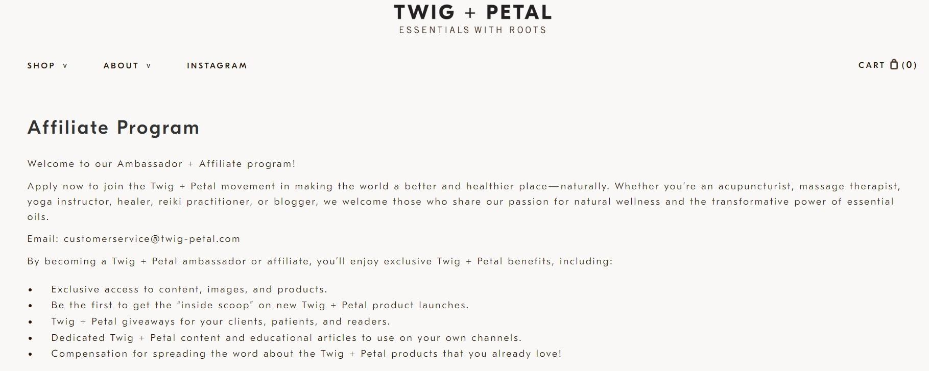 Twig + Pedal Affiliate Program