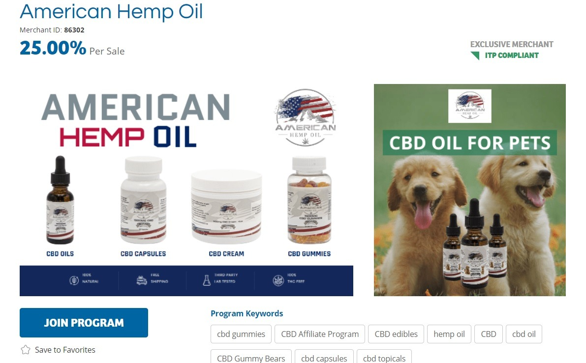 American Hemp Oil Affiliate Program
