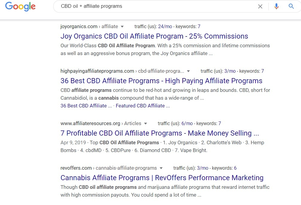 CBD Oil Affiliate Programs - Google Search