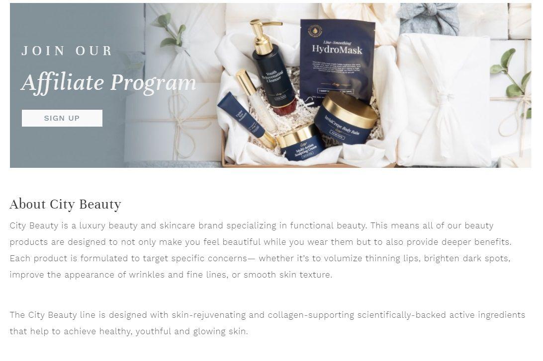City Beauty Affiliate Program