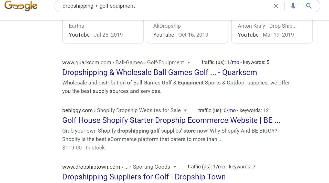 Dropshipping Golf Equipment - Google Search