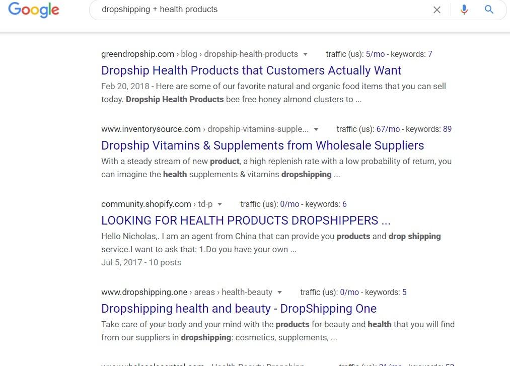 Dropshipping Health Products - Google Search