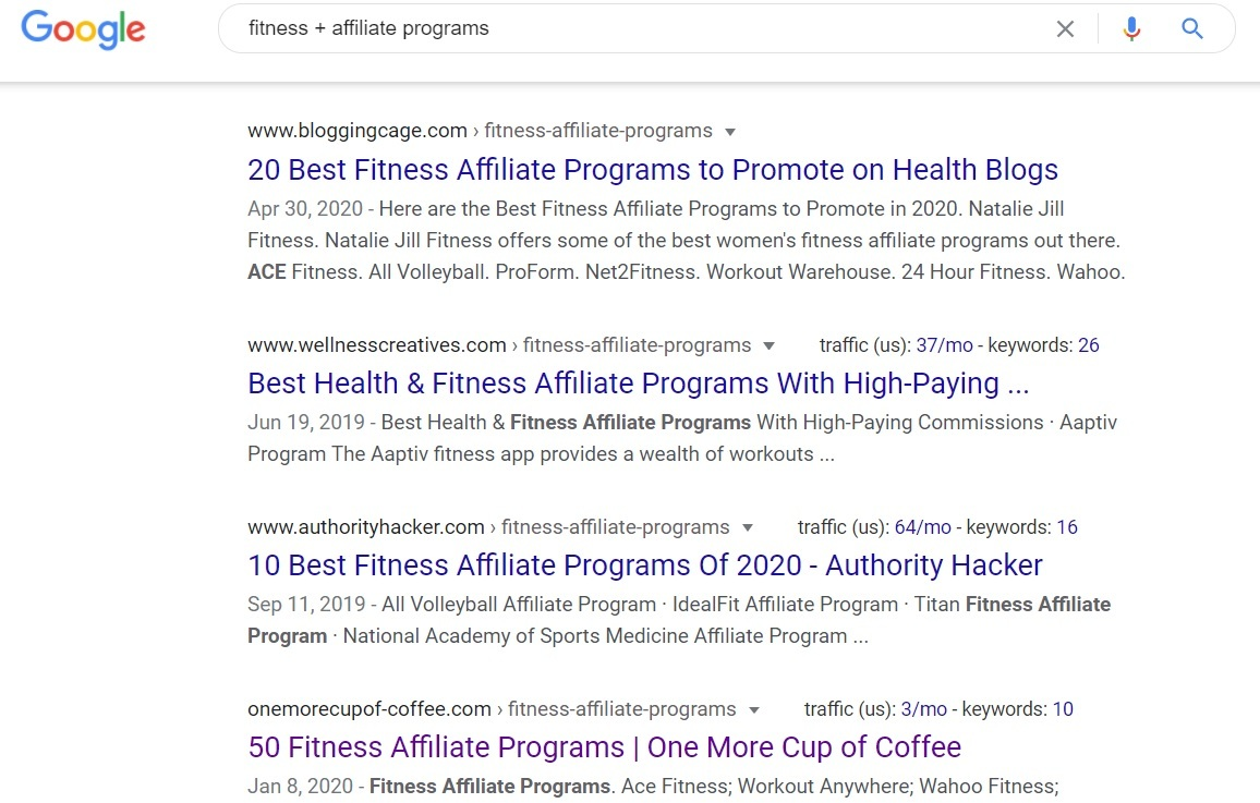 Fitness Affiliate Programs - Google Search