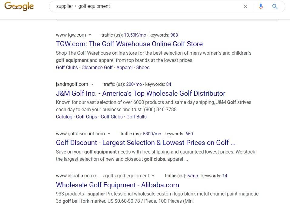 Golf Equipment Supplier - Google Search