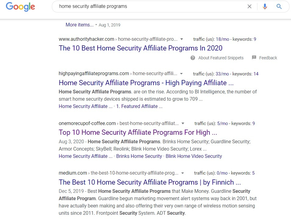 Home Security Affiliate Programs - Google Search