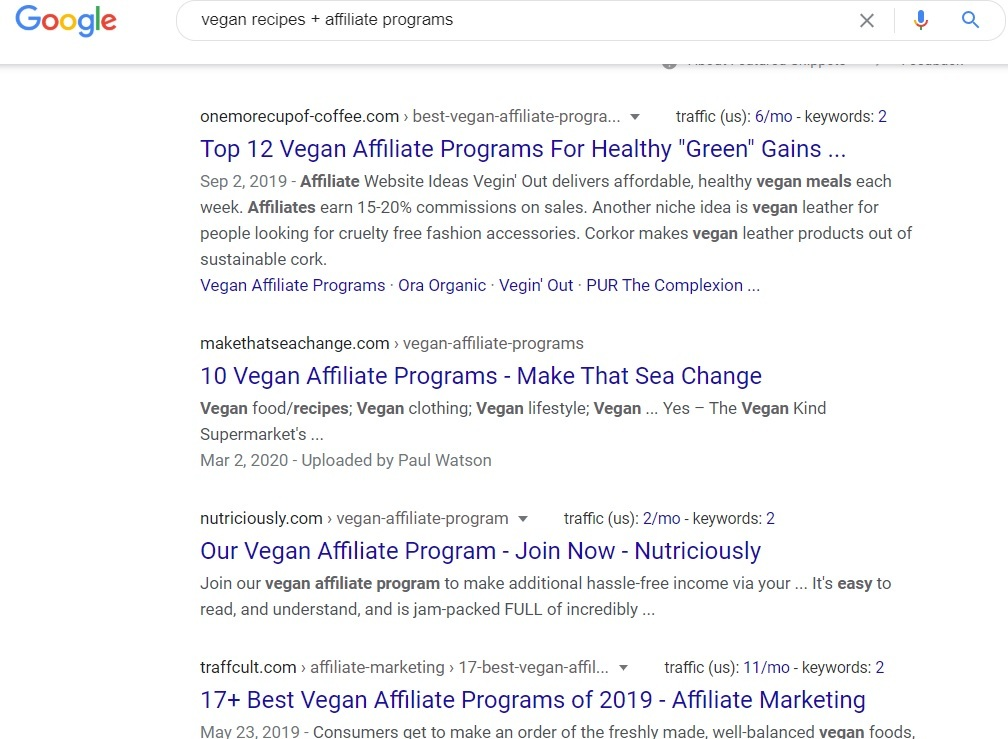 Vegan Affiliate Programs - Google Search