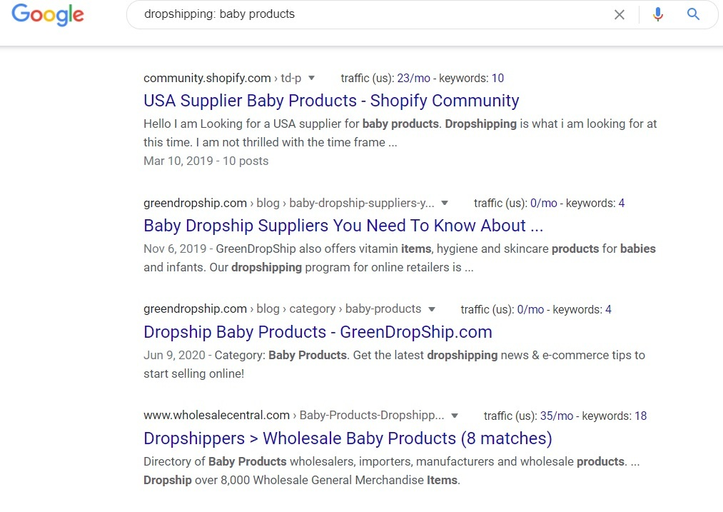Baby Products Dropshipping Programs - Google Search