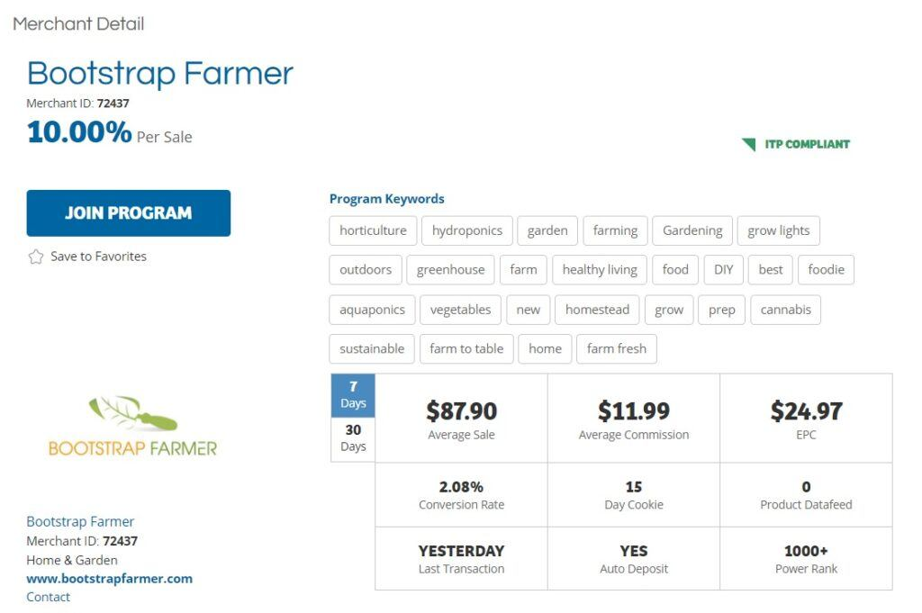 Bootstrap Farmer Affiliate Program