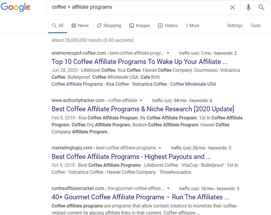 Coffee Affiliate Programs - Google Search