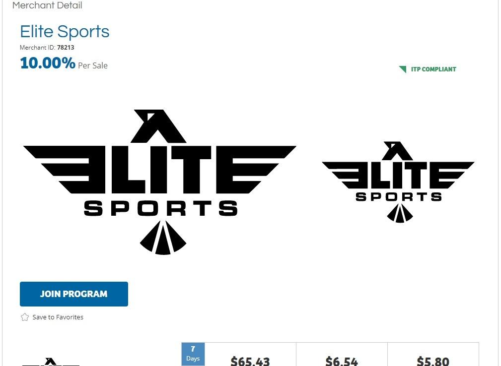 Elite Sports Affiliate Program