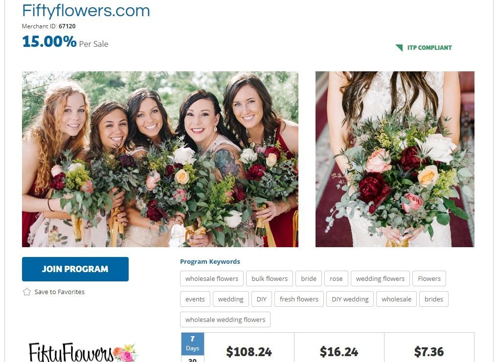 Fifty Flowers Affiliate Program