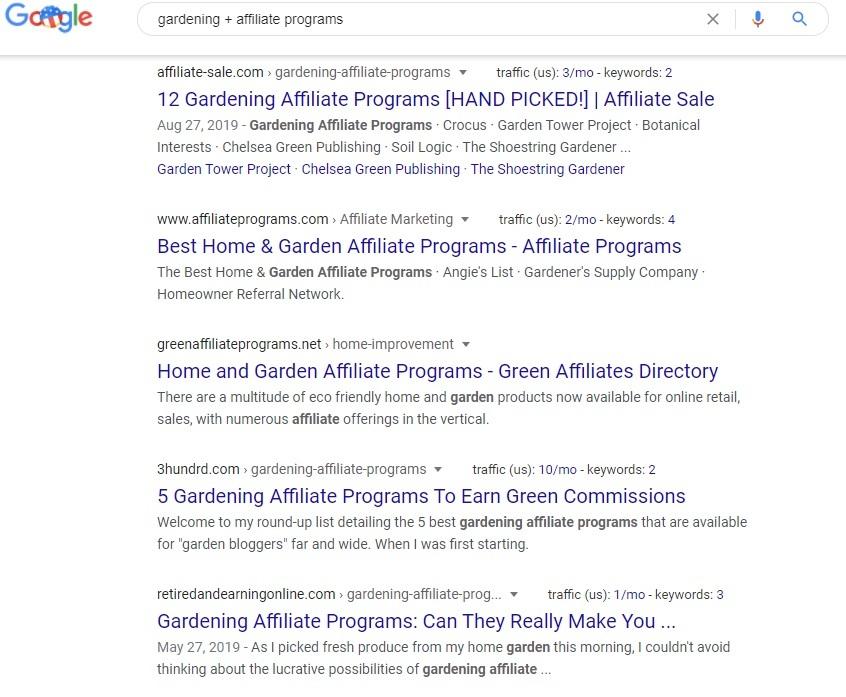 Gardening Affiliate Programs - Google Search
