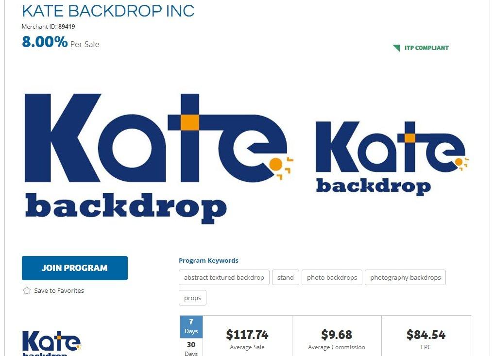 KateBackdrop Affiliate Program