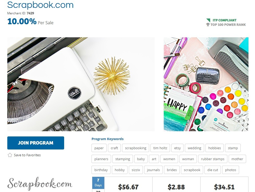 Scrapbook Affiliate Program