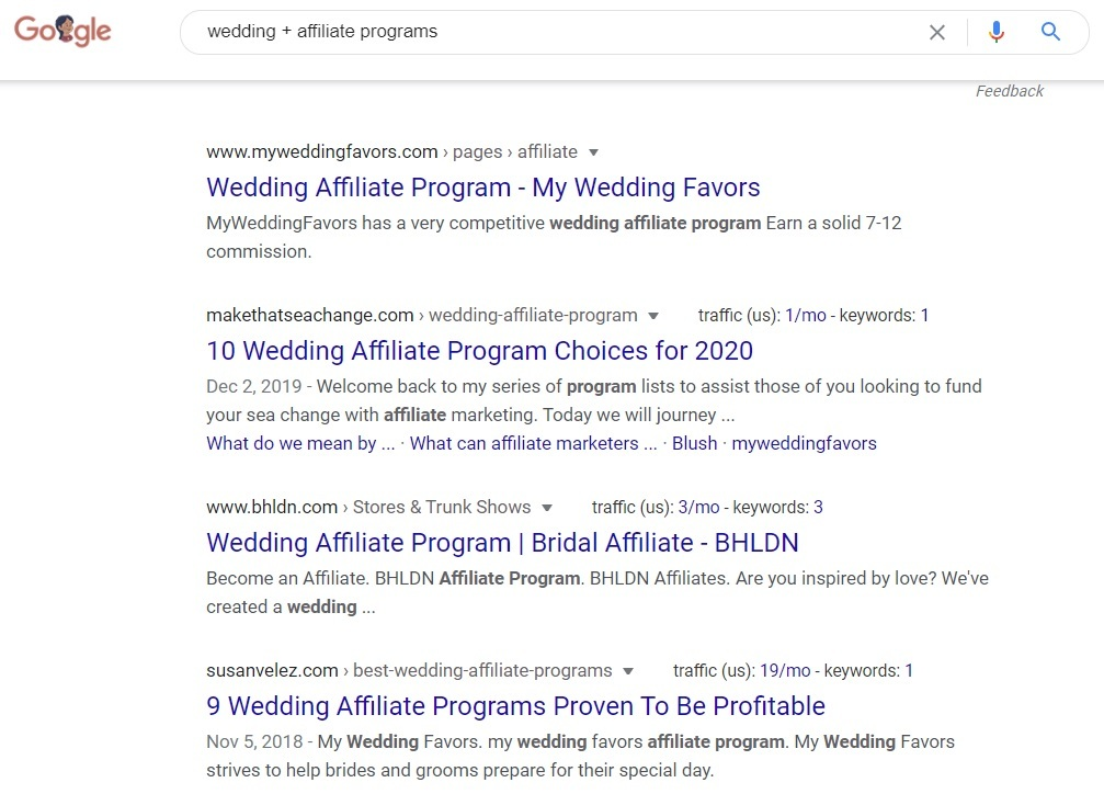 Wedding Affiliate Programs - Google Search