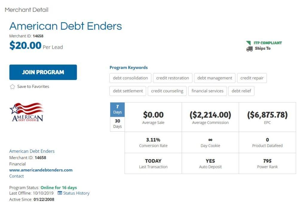 American Debt Enders Affiliate Program
