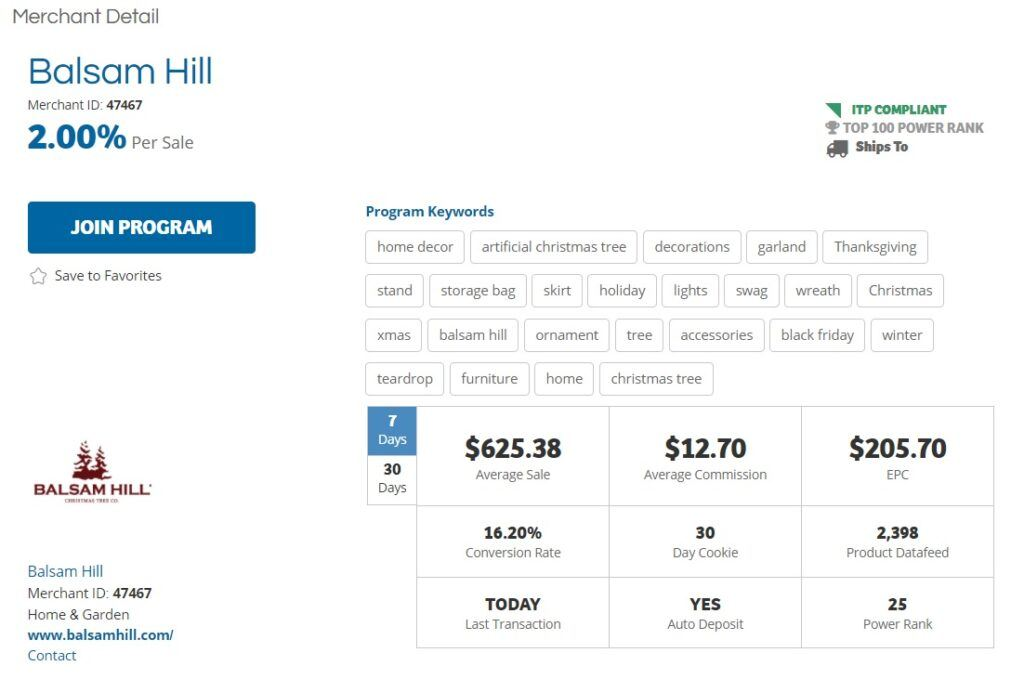 Balsam Hill Affiliate Program