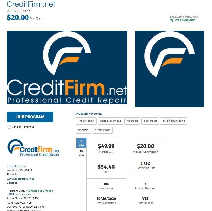 Credit Firm.net Affiliate Program