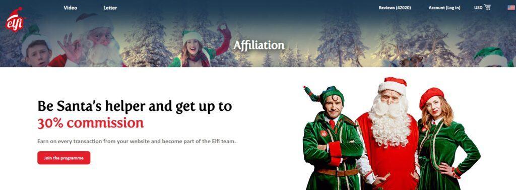 Elfi Santa Affiliate Program