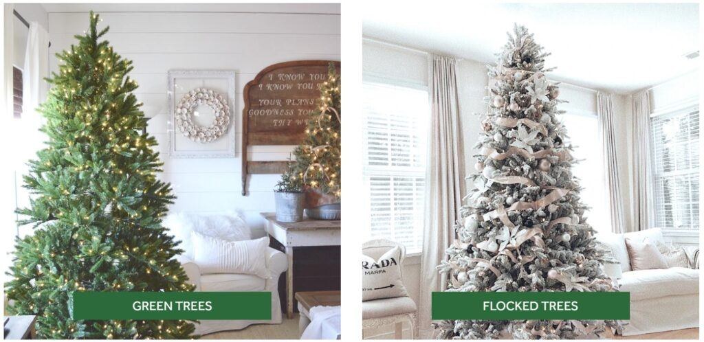 King of Christmas Trees - Green Trees and Flocked Trees