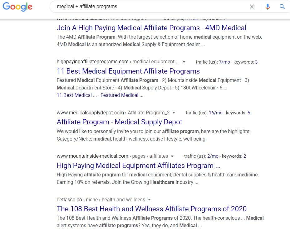 Medical Affiliate Program - Google Search