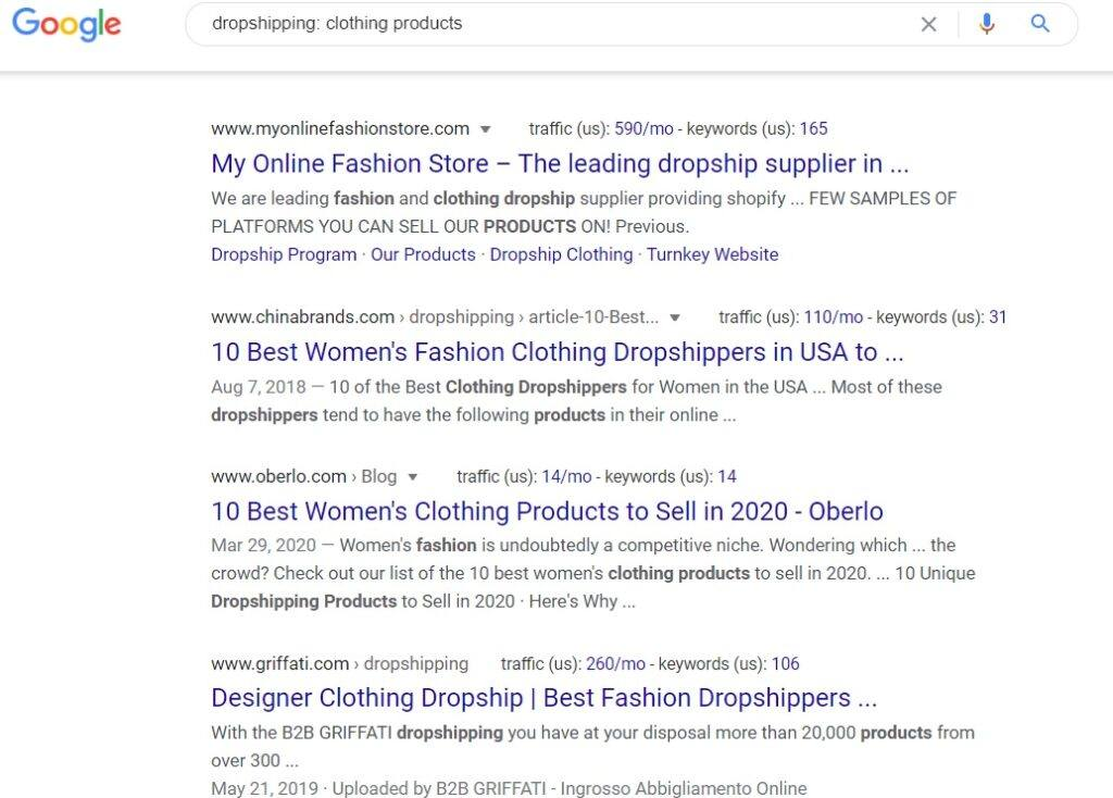 Clothing Dropshipping Affiliate Program - Google Search