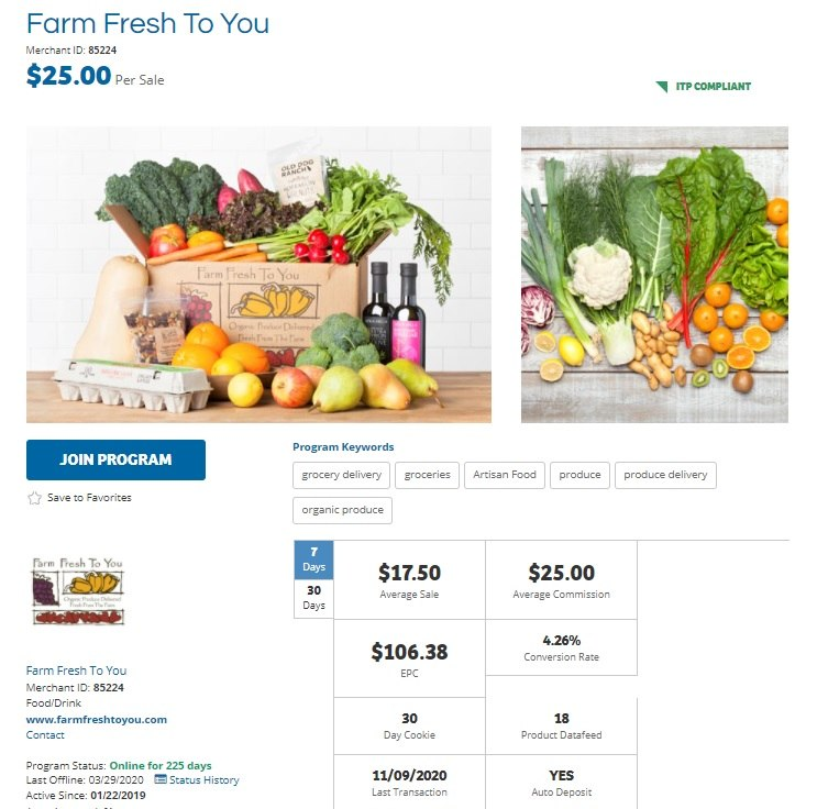 Farm Fresh to You Affiliate Program