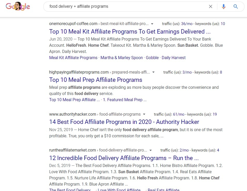 Food Delivery Affiliate Programs - Google Search