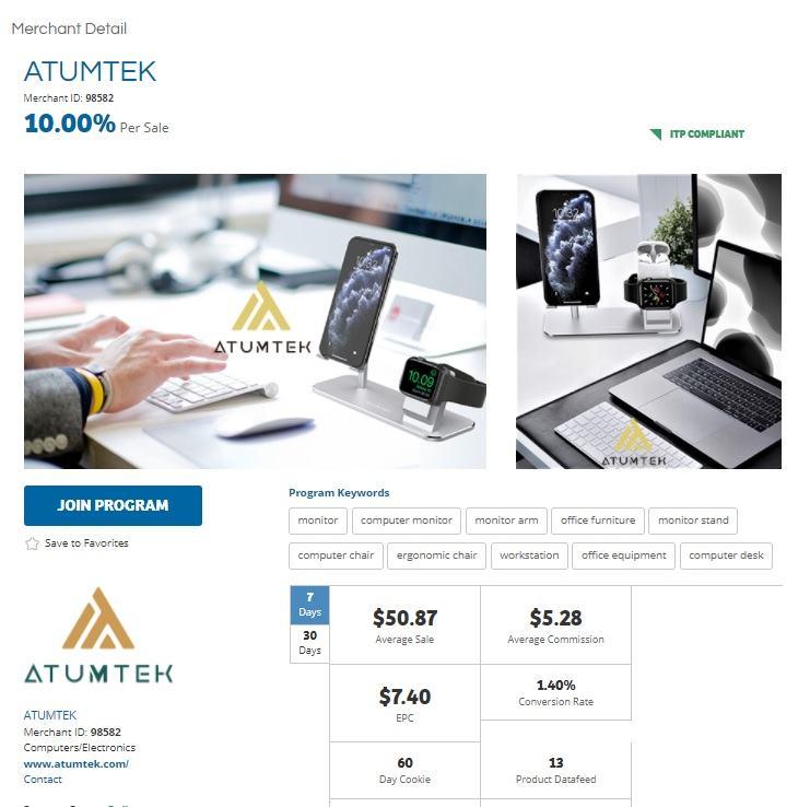 Atumtek Affiliate Program